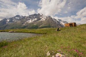 Bauwagen am Lac du Pontet