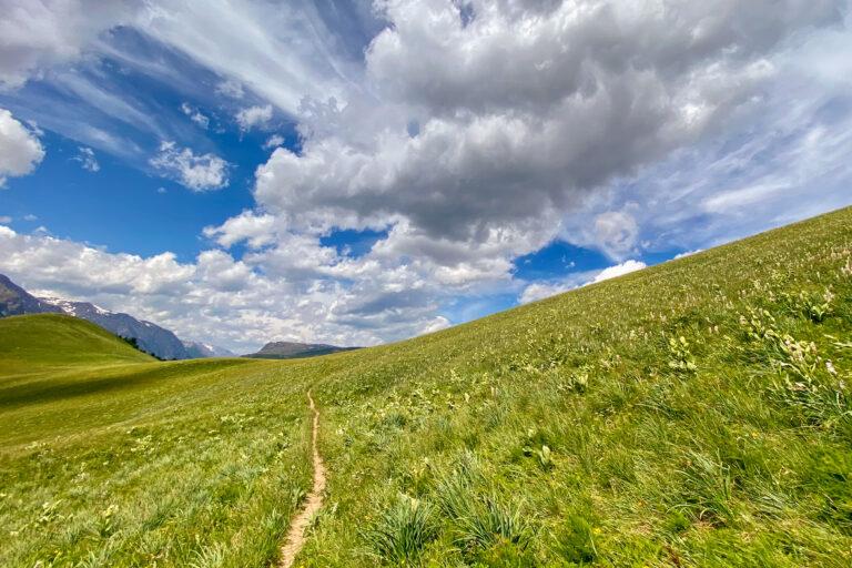Trail vom Lac du Pontet kurz vor Abzweig zum Col de L'Aguillon