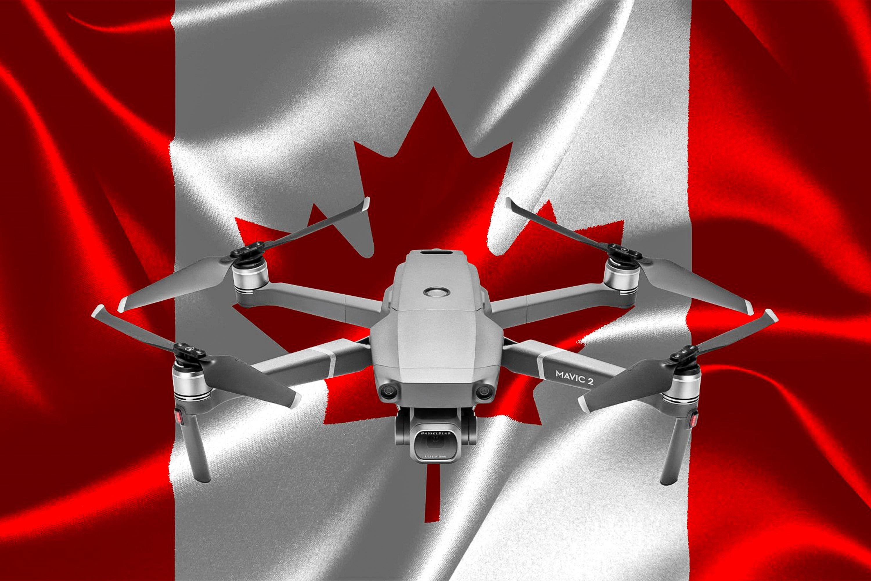 Mavic 2 Pro Drohne und Kanada Flagge