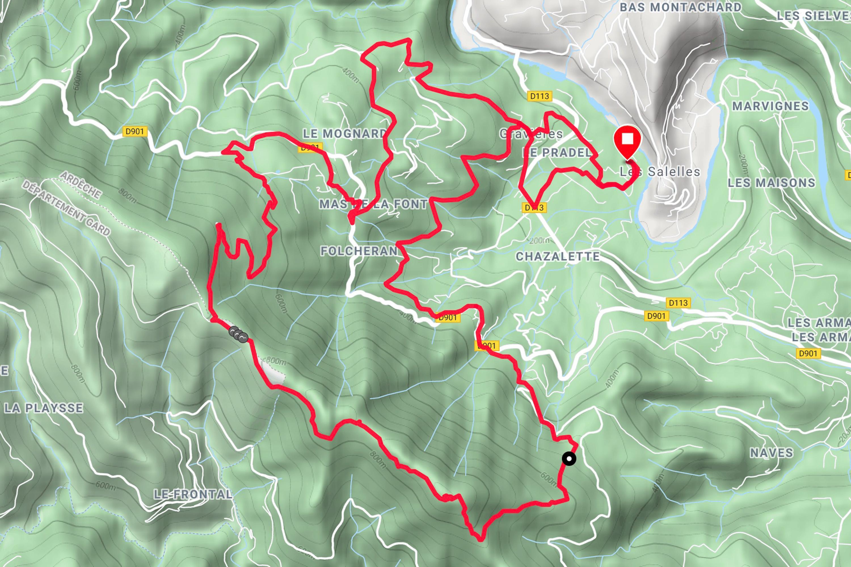 Mountainbiken Serre de Barre Karte